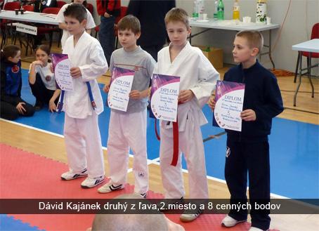 2.kolo Slovenského pohára v karate detí, žiakov a ml. kadetov