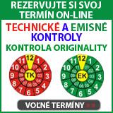 On-line rezervácia - Technická kontrola, emisná kontrola, kontrola originality, STK, Čadca