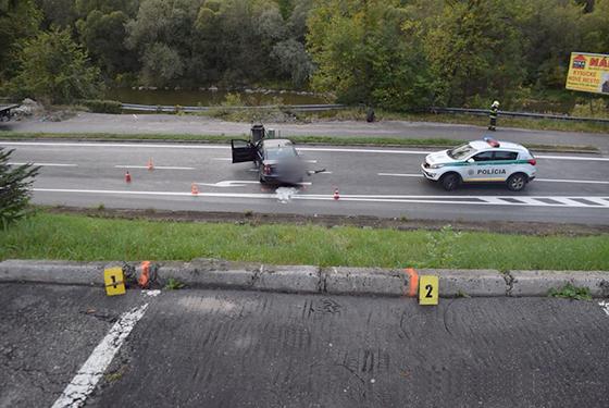 20 ročný mladík zišiel autom strmým svahom od motela Skalka, nafúkal 1,38 promile