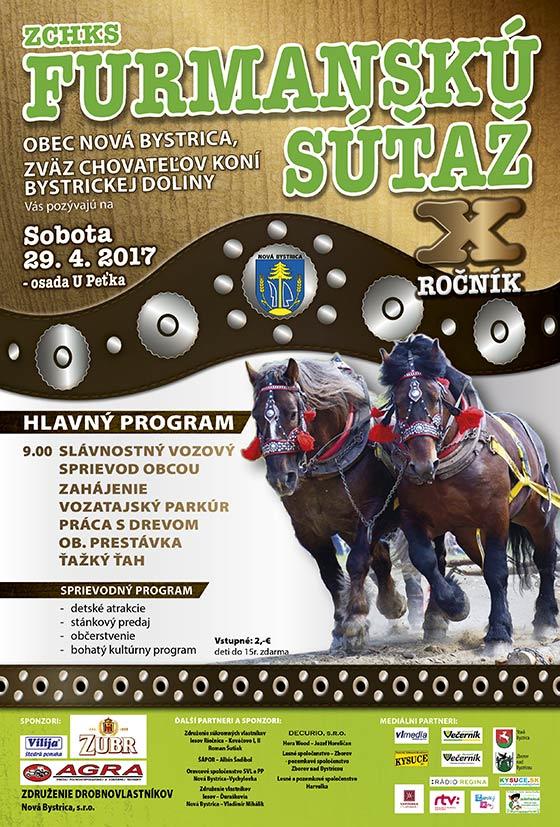 Furmanská súťaž v Novej Bystrici 2017 už tento víkend
