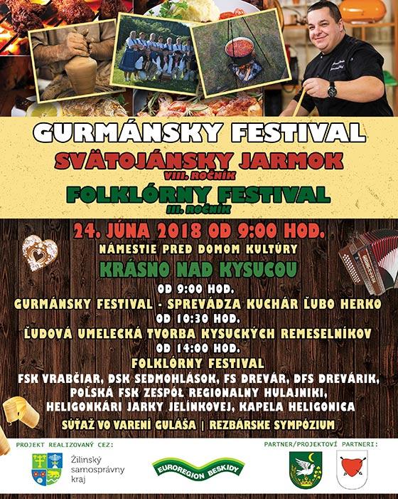Mesto Krásno nad Kysucou pozýva na 8. ročník Svätojánskeho jarmoku a gastrofestival