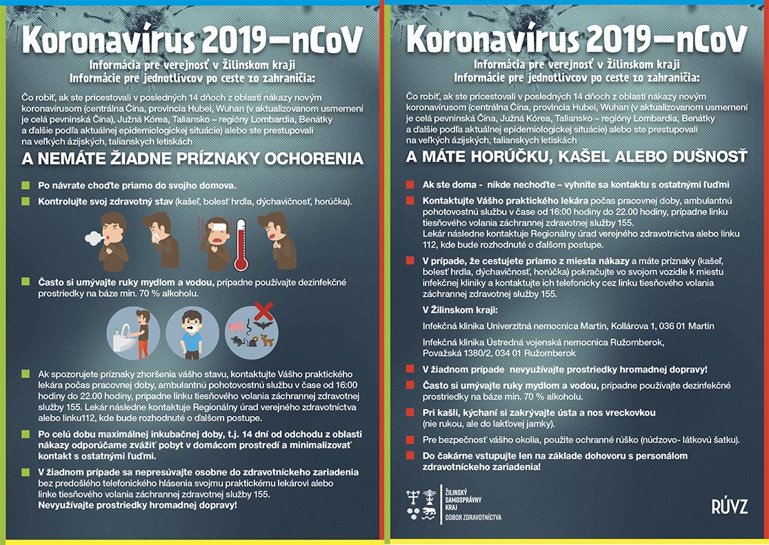 Žilinský samosprávny kraj prijal preventívne protiepidemické opatrenia