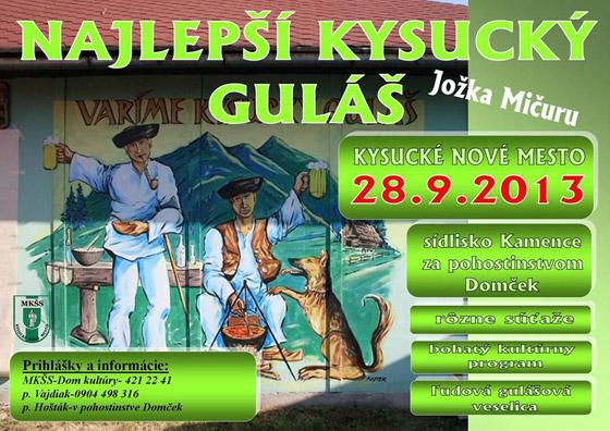 Najlepší kysucký guláš 2013 - 3. ročník súťaže vo varení gulášu už tento víkend