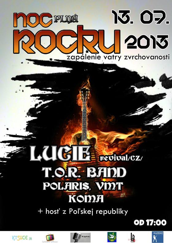 Noc plná Rocku 2013 - Krásno nad Kysucou 13.07.2013