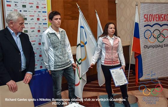 Mlad� Slov�ci zlo�ili s�ub pred odchodom na II. ZOHM v Lillehammeri