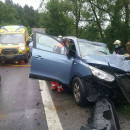 Hasiči zasahujú pri dopravnej nehode v obci Kysucký Lieskovec