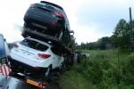 Dopravná nehoda kamiónov v Povine ochromila dopravu + foto