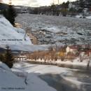 Video: Situácia s ľadovými kryhami na rieke Kysuca v Čadci sa dočasne stabilizovala