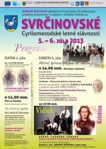 Svrčinovské Cyrilo-metodské letné slávnosti 2013 - program
