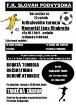 22.ročník futbalového turnaja Memoriál Jána Chabroňa