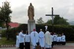Žilinský diecézny biskup Tomáš Galis požehnal sochu Božského Srdca Ježišovho v obci Klokočov