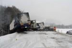 Ďalšia dopravná nehoda kamiónov v Povine zablokovala dopravu