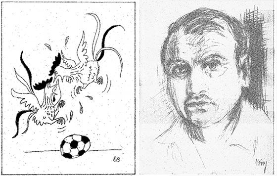Výstava karikatúr Engelberta Kὄniga v Kysuckej knižnici v Čadci