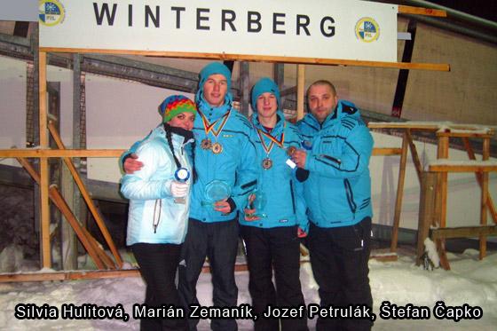 Veľký úspech sánkarov čadčianskej Lokomotívy M. Zemaník a J. Petrulák tretí na Majstrovstvách Európy