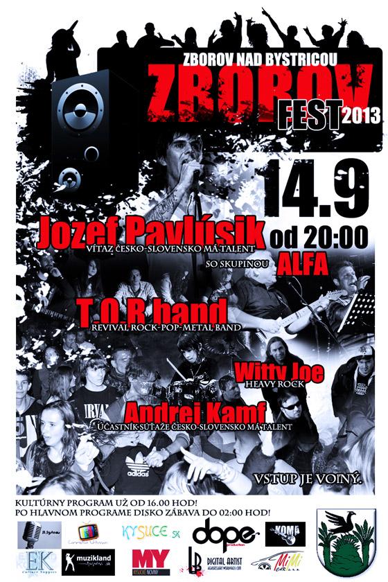 Na podujatí ZBOROV fest 2013 vystúpi aj Jozef Pavlúsik a Andrej Kamf